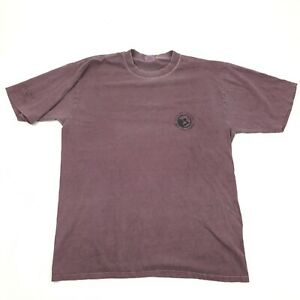 VINTAGE Crazy Shirts Wine-Dyed Mens Casual Tshirt Graphic Logo Adult Size Large