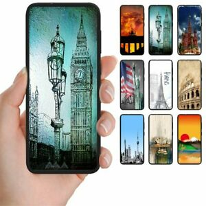 For-Apple-iPhone-Series-City-Landmark-Print-Mobile-Phone-Back-Case-Cover