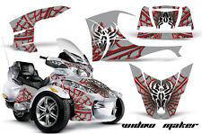 AMR Racing Can Am BRP RTS Spyder Graphic Kit Wrap Street Bike Decal WIDOW RED S