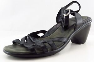 Dansko-Ankle-Strap-Black-Leather-Women-Shoes-Size-37-Medium-B-M