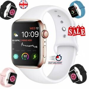 Apple-Watch-iWatch-Series-5-4-3-2-1-38-40-42-44mm-Soft-SILICONE-Sport-Strap-UK