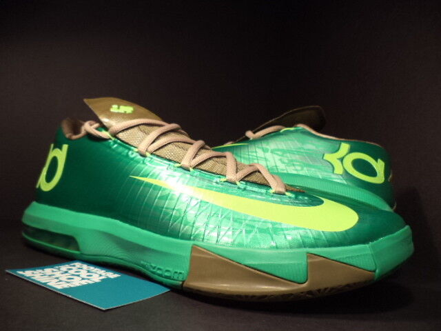 Nike Zoom KEVIN DURANT KD VI 6 BAMBOO GAMMA GREEN LIME LINEN UMBER 599424-301 10 Cheap women's shoes women's shoes