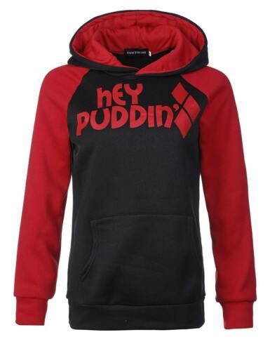 Harley Quinn Ladies Casual Sweater Hoodie College Squad Coat Halloween Cosplay