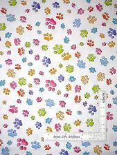 Yard Loralie Dog Gone Dottie Dogs White Cotton Fabric Animal Puppy Toss