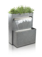 Halton Corten Steel Waterfall Cascade Planter With Led Lights For