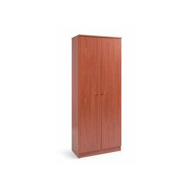 Armadio scarpiera in legno 2 ante ciliegio 6 ripiani 182x71x38 mobile