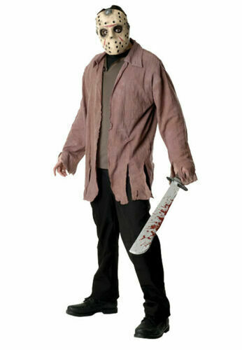 Friday the 13th Jason Serial Killer Adult Halloween Costume 17+