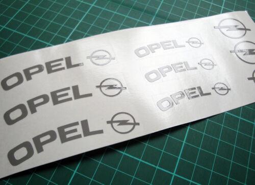 OPEL High Temperature Premium Brake Calliper Caliper Decals Stickers Temp