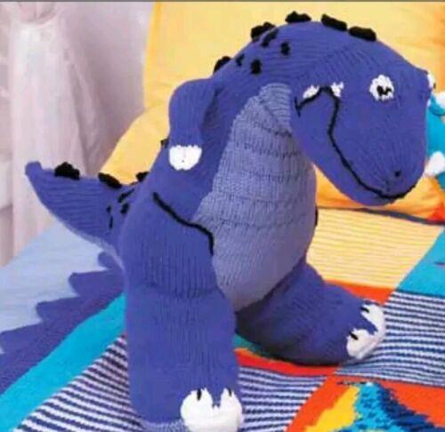 T rex dinosaur toy knitting pattern