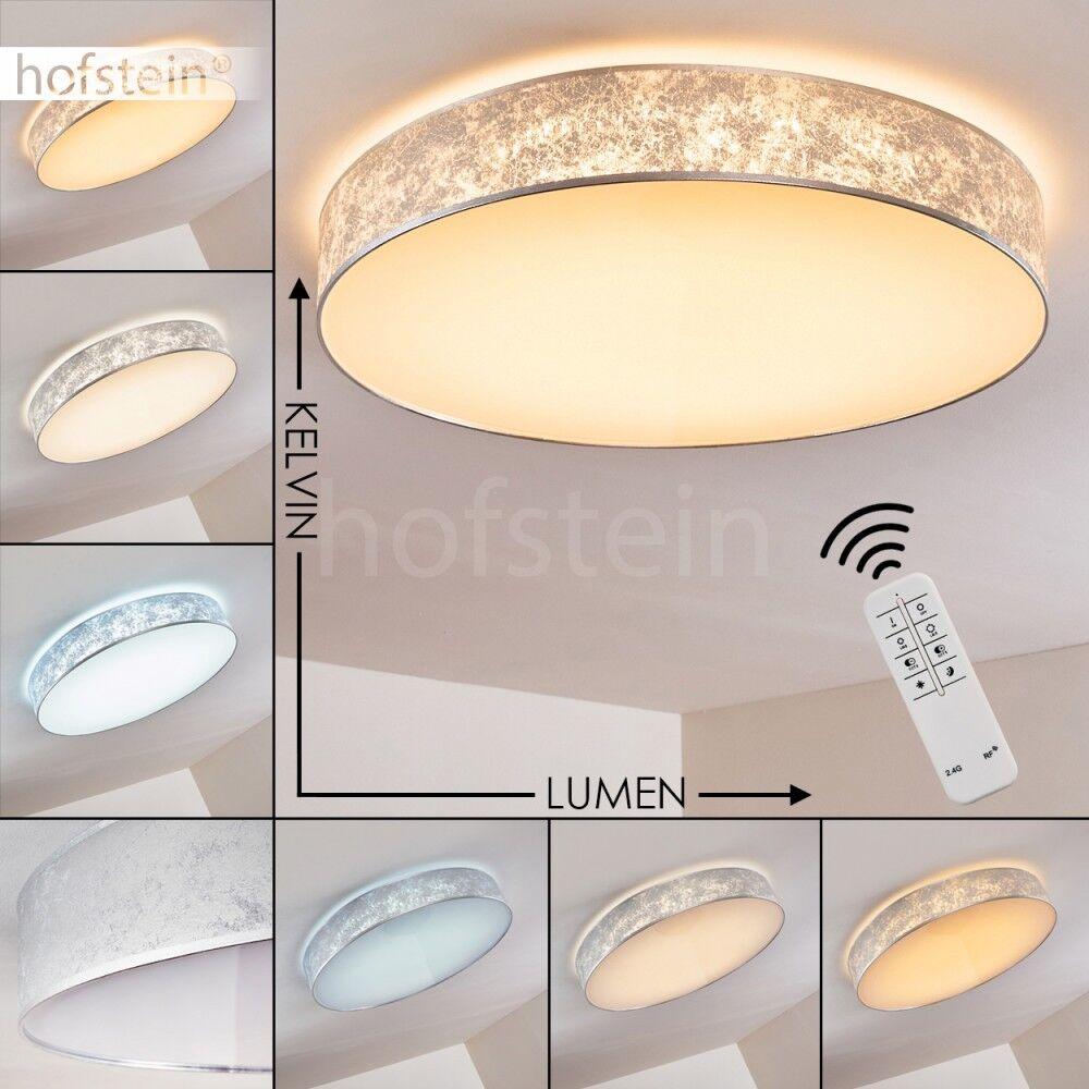 Plafonnier LED Lampe à suspension Silberée Lustre Lampe de chambre à coucher