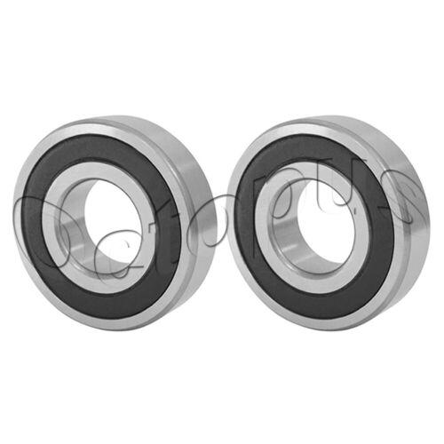 2 Pcs Premium 6011 2RS ABEC3 Rubber Sealed Deep Groove Ball Bearing 55x90x18mm