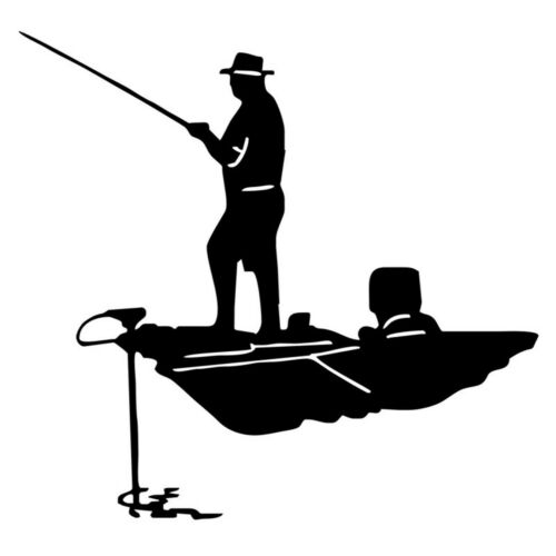 Funny Fishing Fisherman Hobby Fish Boat Car Auto Sticker Removable Vinyl Decal