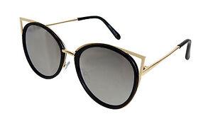 Sonnenbrille schwarz gold Cat Eyes by Ella Jonte UV 400 Trend Katzenaugen new PU1au