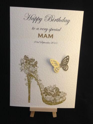 filles Carte d/'anniversaire personnalisé /& fait à la main mesdames femme