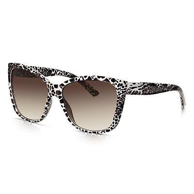 Sunglass Junkie Women's Oversized Designer Retro Leopard Sunglasses - B14054