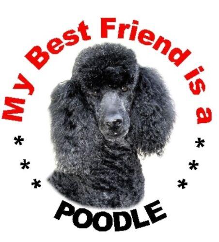 2 Black Poodle Car Stickers By Starprint MBF