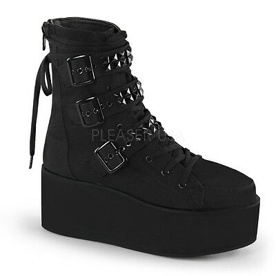 Demonia CLASH DYNAMITE GRIP POISON SHAKER STOMP SWING Womens Platform Ankle Boot
