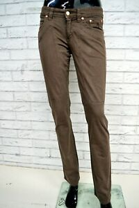 Pantalone-JECKERSON-Donna-Taglia-Size-38-Jeans-Pants-Trousers-Woman-Marrone-Slim