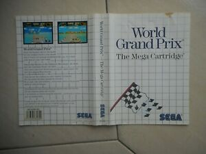 Cover Only X Box Genuine Original Vintage World Grand Prix Sega Master System
