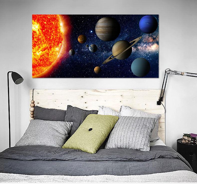 3D Die Sonne planeten 6 Fototapeten Wandbild BildTapete Familie AJSTORE DE Lemon