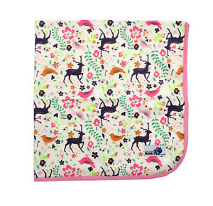 Waterproof Mat Minky Change mat Bed mat Mini picnic rug Reusable Giraffe