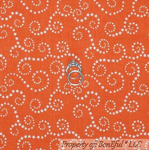 Orange Peach FQ Fat Quarter Fabric Rare Patterns Swirls 100/% Cotton Quilting