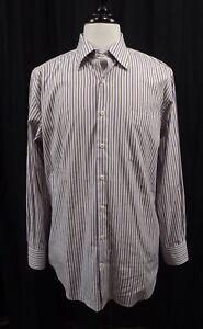 Peter-Millar-Mens-Shirt-L-Large-Striped-Long-Sleeve-Dress-Button-Down-Golf-L-S
