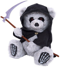 TED THE GRIM - TEDDY BEAR |Collectable Soft Plush Toy 12in |Reaper |GothSkull