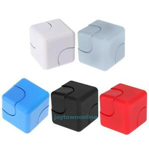 Cube-Hand-Spinner-Tri-Fidget-Focus-Desk-Toy-EDC-ADHD-Square-Stress-Relief-Gift