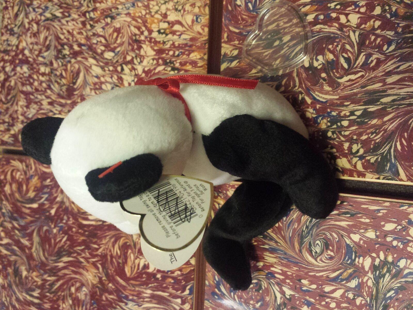Ty Beanie Baby FORTUNE Panda Panda Panda Bear Retired 12 6 1997 98 Tush Errors RARE GASPORT 4e48d8