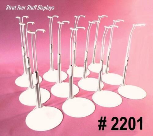 "12 stands KAISER #2201 WHITE NEW Fits 11.5/""-12.5/"" tall dolls ROCK N ROLL JEM"