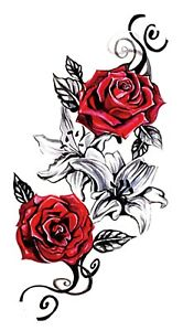 Cheap Sexy Party Event Fun Rose Tramp Stamp 8 25 Amp Amp Quot Temporary Tattoo Ebay
