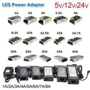 AC100-240V DC 5V 12V 24V Power Supply Transformer 1A 2A 5A10A For 5050 LED Strip