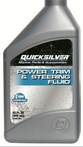 Details about QUICKSILVER HYDRAULIC POWER TRIM STEERING FLUID 1L MERCRUISER  INBOARD