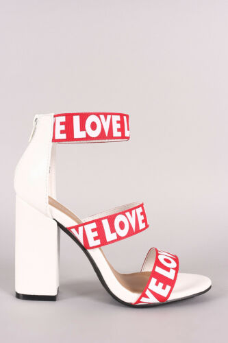 Women/'s Open Toe Silhouette Grosgrain Bands Chunky Heels Sandals Influencer-23S