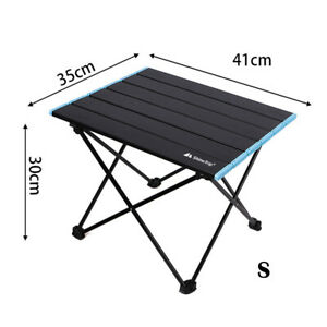 Aluminum Multifunctional Folding Camping Table For Outdoor BBQ Picnic S Blue