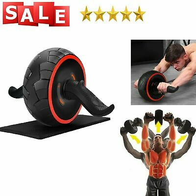 Ab Roller Wheel Abs Crunch Machine Abdominal Stomach Slide Exercise Roll Out New