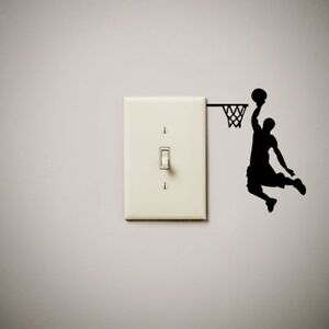 Basketball Dunk Dunking Vinyl Decal Sticker For Light Switch Our - Vinyl-decals-to-decorate-light-switches-and-outlets