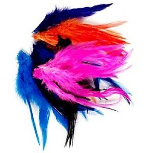 """5566BS Carft Feather Dyed Chicken 3-1/2 to 7-1/2"""" saddle hackle, 0.25 oz, 85 Qty"""
