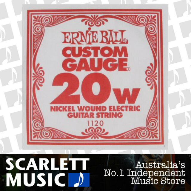 Ernie Ball Nickel Wound Single Guitar String .020 ( 20 / 20w / Twenty ) Gauge