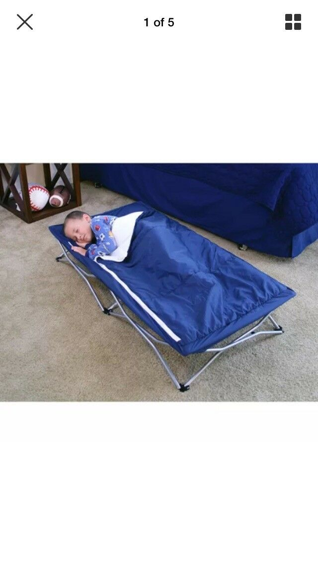 Regalo Deluxe My Cot Portable Toddler Bed, Includes Sleeping  Bag Travel Case,  up to 65% off