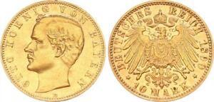 Bayern 10 Mark Gold 1890 d Otto ss-vz 64123