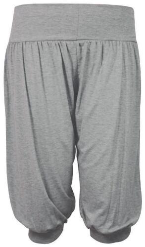 Womens Ladies 3 by 4 Length Ali Baba Harem Short Pant Trousers Plain Plus Size