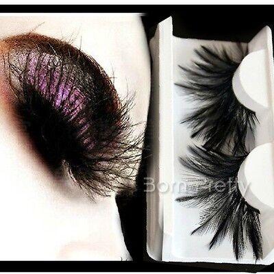 Feder Muster künstlich Falsche Wimpern Lang Curly False Eyelash Make Up 19727
