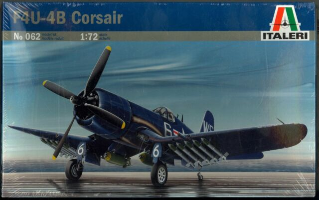 1/72 Italeri Models VOUGHT F4U-4B CORSAIR Fighter *MINT*