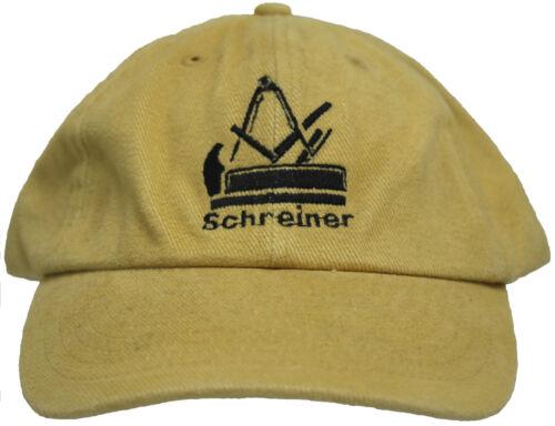 Baseballcap Cap Kappe Schirmmuetze mit Stick Handwerk Beruf Schreiner 68624