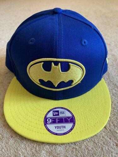 New Era 9Fifty Youth Snapback Baseball Cap Batman DC Comics BNWT
