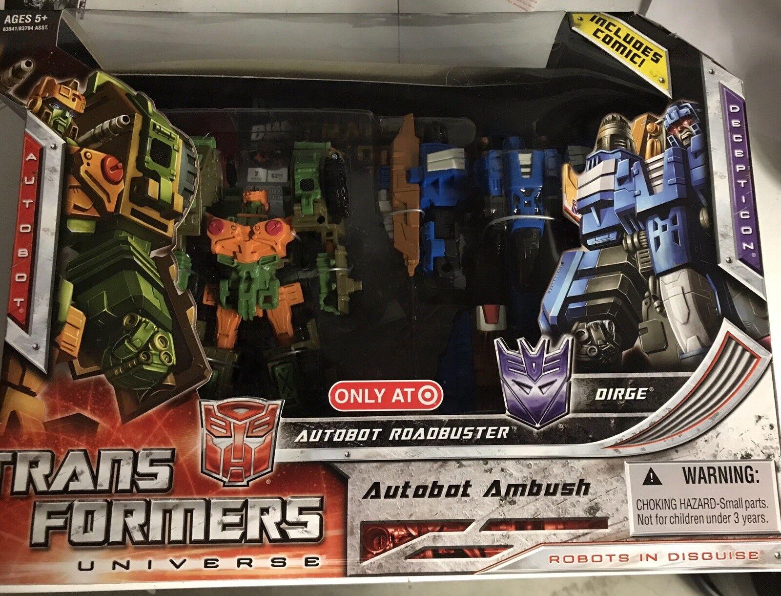 Transformers Universe Autobot Ambush Roadbuster & Dirge Target Exclusive misb
