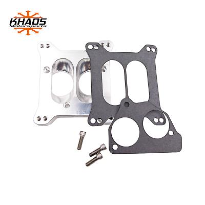 Holley and Edelbrock 4 Barrel Intake Manifold Khaos Motorsports Carberetor to TBI Adapter 1.7 Open fits