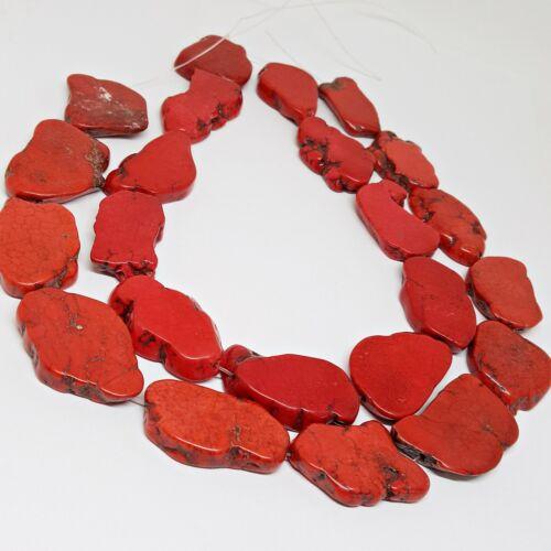 Nellys DBM irregulares discos rojo perlas piedras preciosas Strang